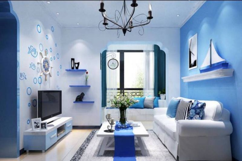 Trang trí nội thất biệt thự bằng gam màu xanh tươi mát